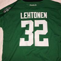 NHL Reebok Dallas Stars #32 Lehtonen Hockey Jersey Kids Youth Size L/XL