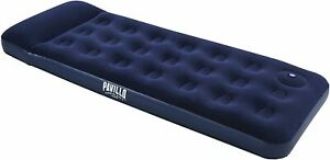 Bestway Pavillo Inflatable Airbed Camping Air Bed Built-In Pillow Single Free🚚✅