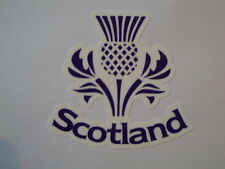 "2  SCOTTISH THISTLE 3"" MOTORBIKE HELMET STICKERS IOM TT SCOTLAND RUGBY YAMAHA"