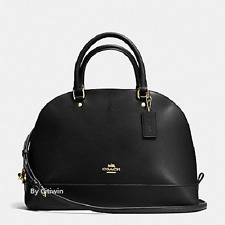 New Authentic COACH F57524 Sierra Dome Satchel Handbag Purse Shoulde Bag Black