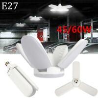 45/60W E27 LED Garage Light Deformable Ceiling Fixture Lights Shop Workshop Lamp