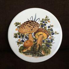 Mcm Merry Mushroom Nature Blueberries & Tulips Styled Tile Trivet Mid-State