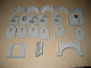 Lego 20  Burgteile Mauern Burg grau