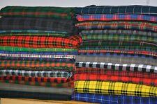 Scottish Acrylic Fabric Tartan Plaid  By The Yard 13 - 16 Oz Weight - 39 Colors