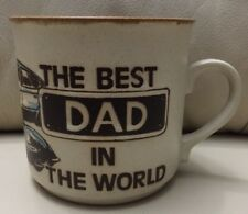 'The Best Dad In the World' Rustic Pint Mug - Father Gift - Old Ferrari Car