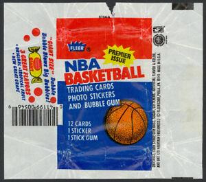 1986-87 Fleer Basketball Wax Pack Wrapper (Dubble Bubble Variation) Jordan RC