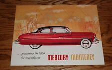 1950 Mercury Monterey Full Line Sales Brochure 50 Coupe Convertible Sedan