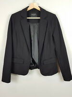 JEANSWEST | Womens Black Ebony Ponte Blazer / Jacket  [ Size S or AU 10 ]