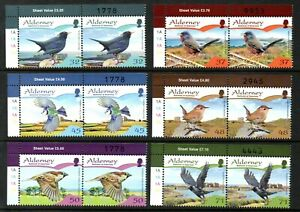 Alderney Stamps 2007 SG A316-A321 Resident Birds (Series 2) Passerines Mint MNH