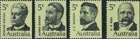 Australian 1969 MNH PM Stamps Set of 4x 5c - First Prime Minister series Issues