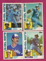 4 X 1984 TOPPS TORONTO BLUE JAYS TRADE  CARD  WHIT JIMMY KEY RC (INV# A816)