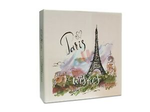 """Photo Album 4X6"""" Slip In Case Memo Area Hold Up To 208 Picture Paris Design"""