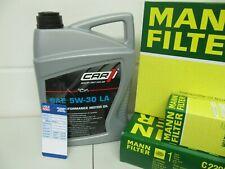 Hombre petróleo, aire, espacio interior-filtro y 5ltr. Car 5w30 aceite del motor Opel Astra H