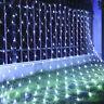 3X3m LED Guirlande Rideau Fil Filet Lampe Jardin Maison Fenêtre Fée Fête Mariage