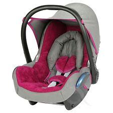 Replacement Seat Cover fits Maxi Cosi CabrioFix 0+ FULL SET - fuchsia - grey