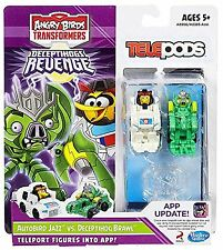 Angry Birds Transformers Telepods Autobird Jazz Bird vs. Deceptihog Brawl Pig...
