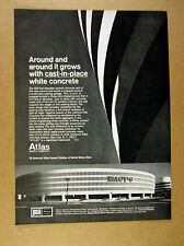 1966 Macy's Department Store Queens NY photo Atlas White Cement vintage print Ad
