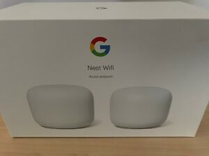 Google Nest Wifi 2 Pack Home Mesh Wifi, Router and Wifi Point.