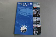 X413 POCHER Voiture maquette catalogue 1/8 1994 28 pages 29,7*21 cm F 25°