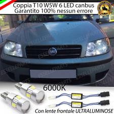 COPPIA LUCI DI POSIZIONE 6 LED CON LENTE FRONTALE FIAT PUNTO MK2 + SPEGNI SPIA