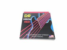 DR Strings Guitar Strings Electric Neon Red 09-46 Light and Heavy