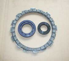 FS1E /DT50/DT80/TY80 CLUTCH FRICTION PLATE SET OF TWO PLUS ONE PAIR CRANK SEALS