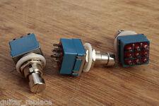 Switch 3PDT Interruptor True Bypass Pedal Efecto Guitarra Amplificador Selector