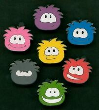 "DISNEY PIN CLUB PENGUIN COMPLETE SET OF 7 ""PUFFLES"""