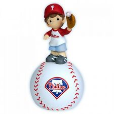 Precious Moment MLB Philadelphia Phillies BOY Catching Baseball Musical Figurine