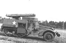 WW2 Picture Photo 1943 M2A1 Half-Track mounted w two 3-tube rocket launch 1819