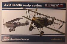MAQUETTE MODEL KIT AVIA B.534 EARLY SERIES 1/144 SUPER44 EDUARD