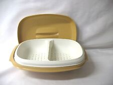TUPPERWARE MEALS IN MINUTES HARVEST GOLD STEAMER --SUPERB--