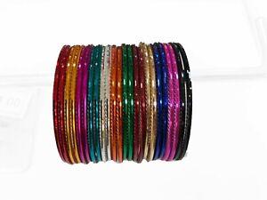 Kids 24 multi colour / FULKARI bangle churis, Indian bangles, Pakistani bangles,