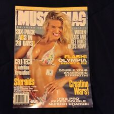MUSCLEMAG INTERNATIONAL VICKY PRATT Feb 1998 bodybuilding muscle magazine