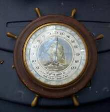 NAUTICAL THEMED THERMOMETER-Goyer Supply-Greenville Mississippi-1940s