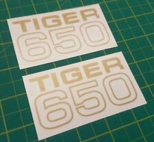Triumph Tiger 650 side panel / tool box  / Tank  restoration decals stickers