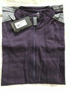 NWT NEW Ibex Enduro Half Zip merino wool cycling jersey 3/4 sleeve purple Small