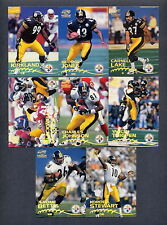 1998 & 1999 Pacific Paramount Football Pittsburgh Steelers TEAM SET