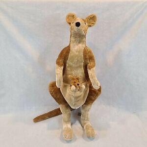 Melissa and Doug Kangaroo Baby Joey Plush Stuffed Animal 36'' Tall 3 Feet #8834