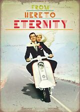 SCOOTER WEDDING COUPLE HERE TO ETERNITY CONGRATULATION   CARD