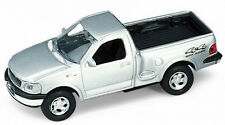 BLITZ VERSAND Ford F 150 1997 silber / silver Modell Auto Welly 1:34 NEU & OVP 1