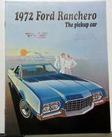 1972 Ford Ranchero 500 GT Squire Pickup Car Truck Sales Brochure Original