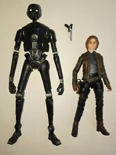 """Star Wars Black Series 6"""" figure Rogue One Imperial Security droid K2SO Jyn Erso"""
