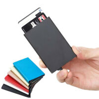 Aluminum Alloy Credit Card Holder Wallet Antimagnetic Waterproof Protective NTAT