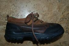 Dark Brown Leather RALPH LAUREN Polo Sport Laced & Strap Ankle Boots Youth 1