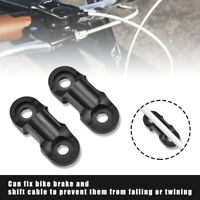 2Pcs Bicycle Cable Guide MTB Road/Bike Brake Line Holder Hose Wire Clips Clamps