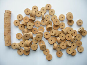 "100 CORK RINGS OVERSTOCK FLOR 1 1/4""X1/2"" BORE 1/4"" - FREE SHIP WORLDWIDE!!!!"