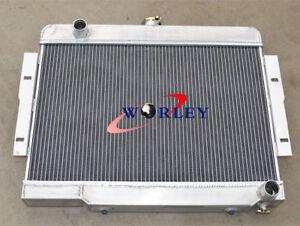 3 Row Aluminum Radiator For Jeep CJ CJ5 CJ7 V8 Chevy Engine 72-86 74 75 76 77 78