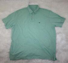 Vineyard Vines Mens Green White Striped Pocket Golf Polo Shirt Sz Extra Large XL