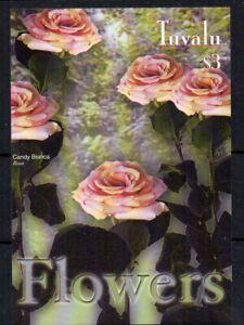 BRIEFMARKEN - TUVALU - BLUMEN - FLOWERS - 2003 - BLOC - M/S -